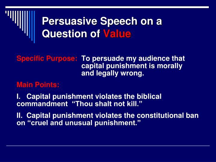 Persuasive Speech on a