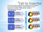 call for expertise