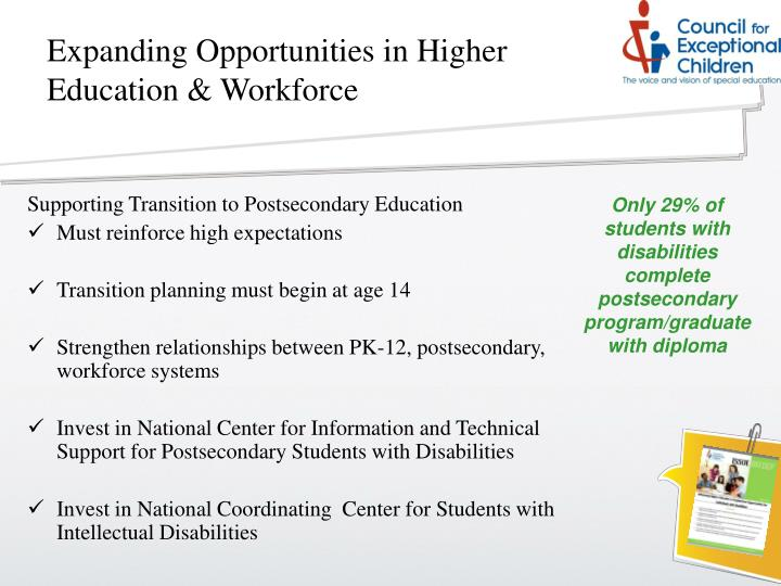 Expanding Opportunities in Higher Education & Workforce