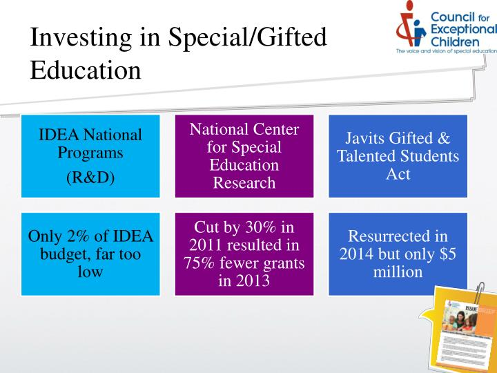 Investing in Special/Gifted Education