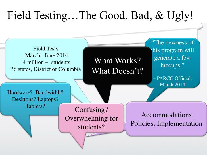 Field Testing…The Good, Bad, & Ugly!