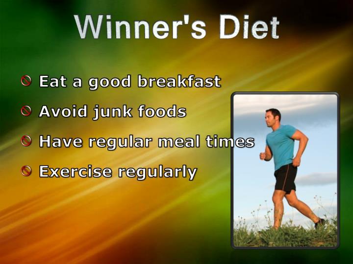 Eat a good breakfast