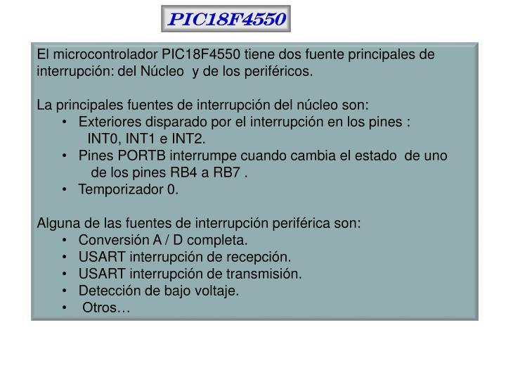 PIC18F4550