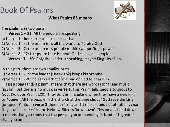 What Psalm 66 means