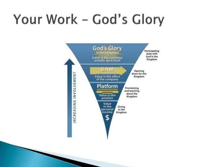 Your Work – God's Glory