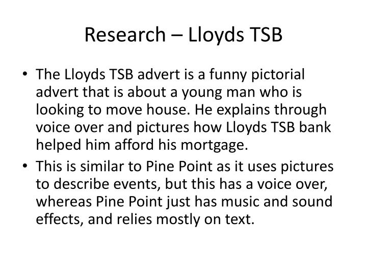 Research – Lloyds TSB