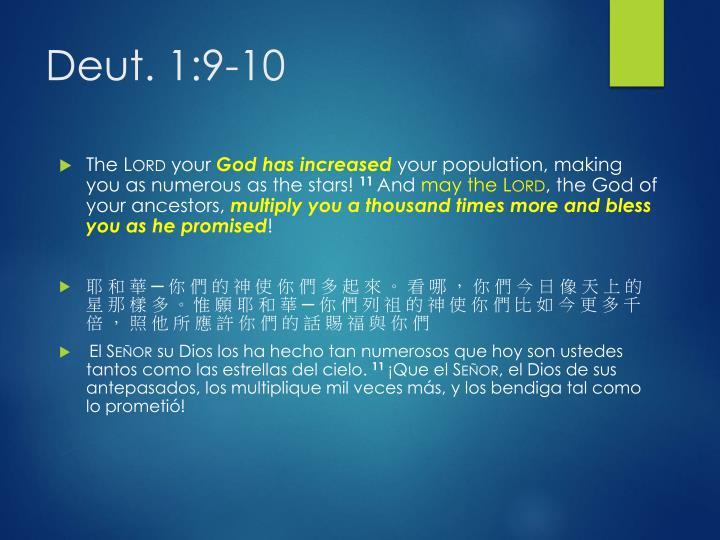 Deut. 1:9-10