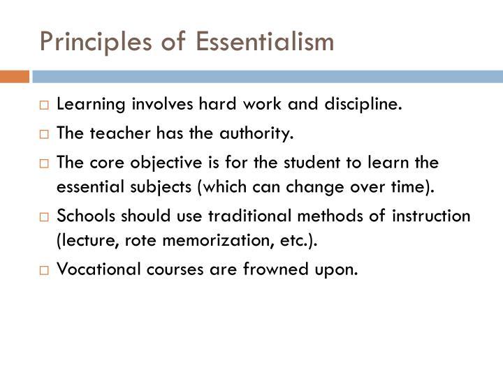Principles of Essentialism