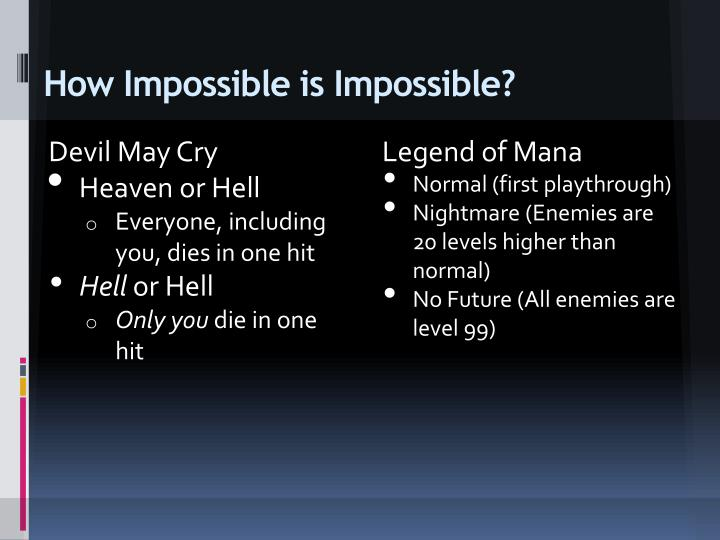 How Impossible is Impossible?