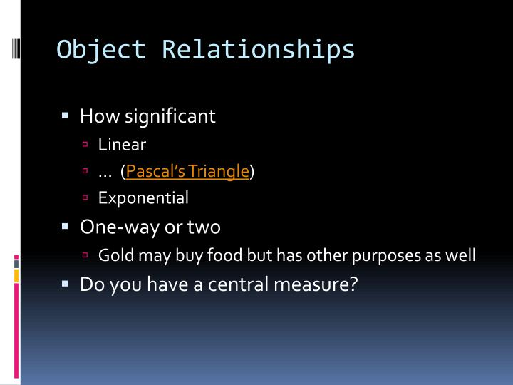 Object Relationships