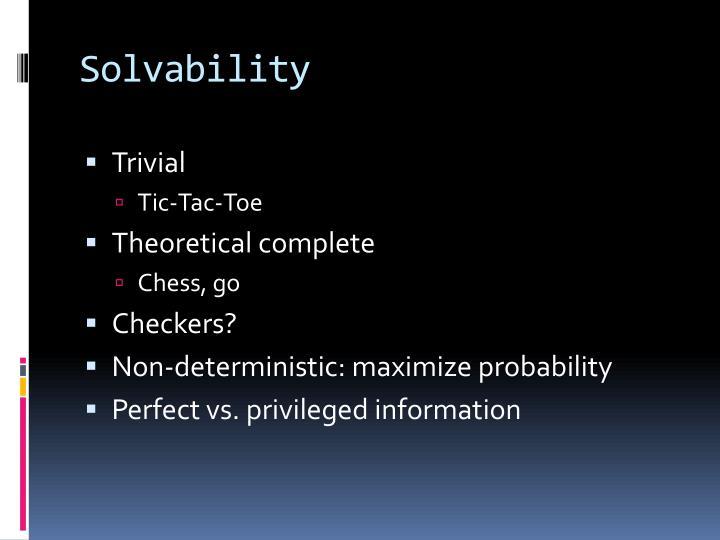 Solvability