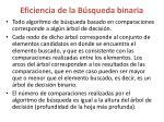 eficiencia de la b squeda binaria