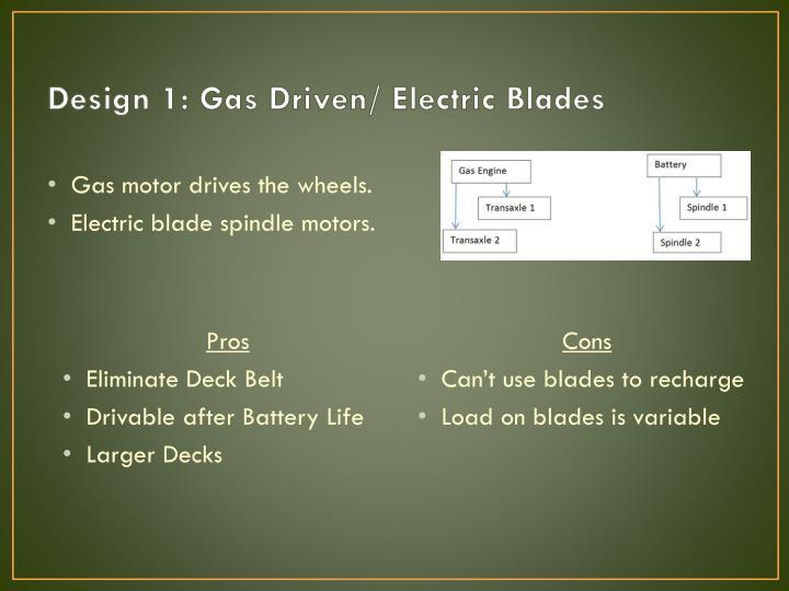 Design 1: Gas Driven/ Electric Blades