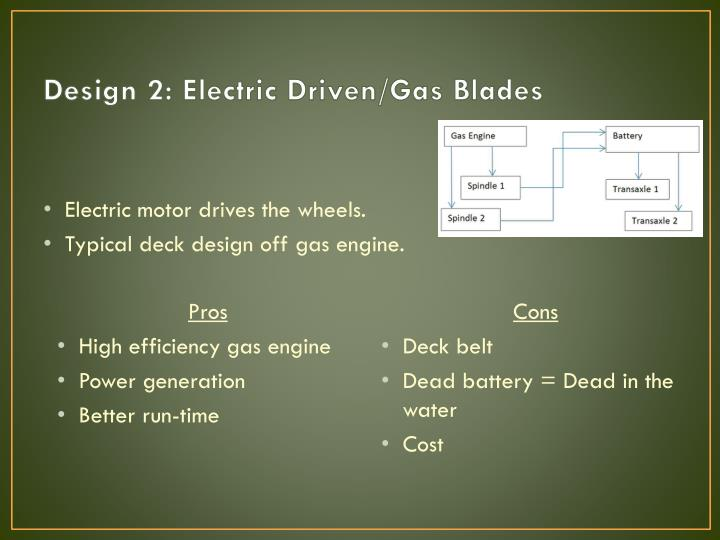 Design 2: Electric Driven/Gas Blades