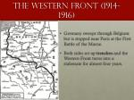 the western front 1914 1916
