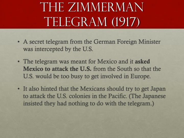 The Zimmerman Telegram (1917)