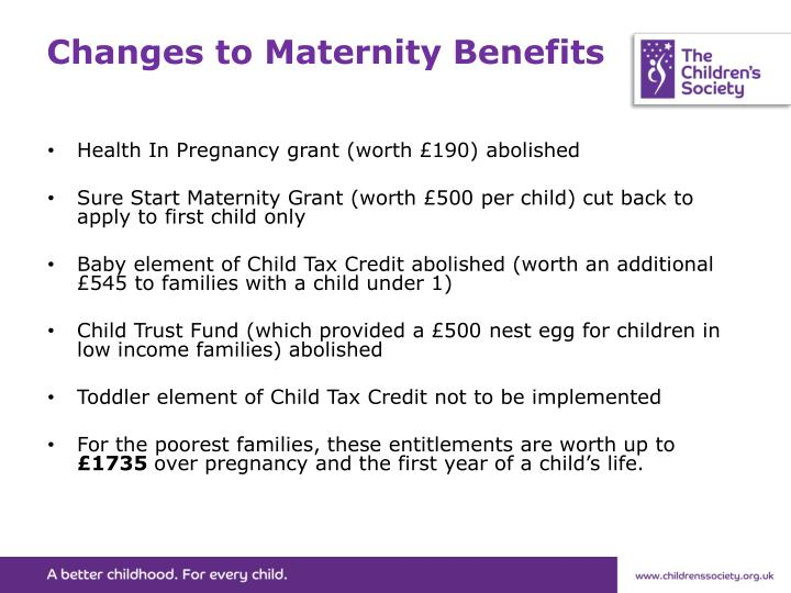 Changes to Maternity Benefits