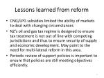 lessons learned from reform
