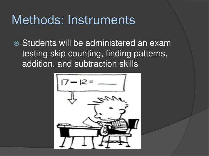 Methods: Instruments