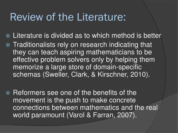 Review of the Literature: