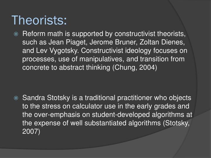 Theorists:
