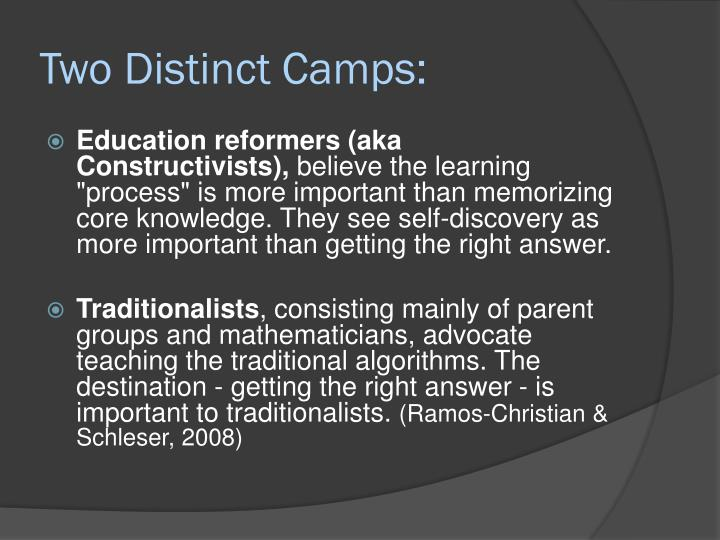 Two Distinct Camps: