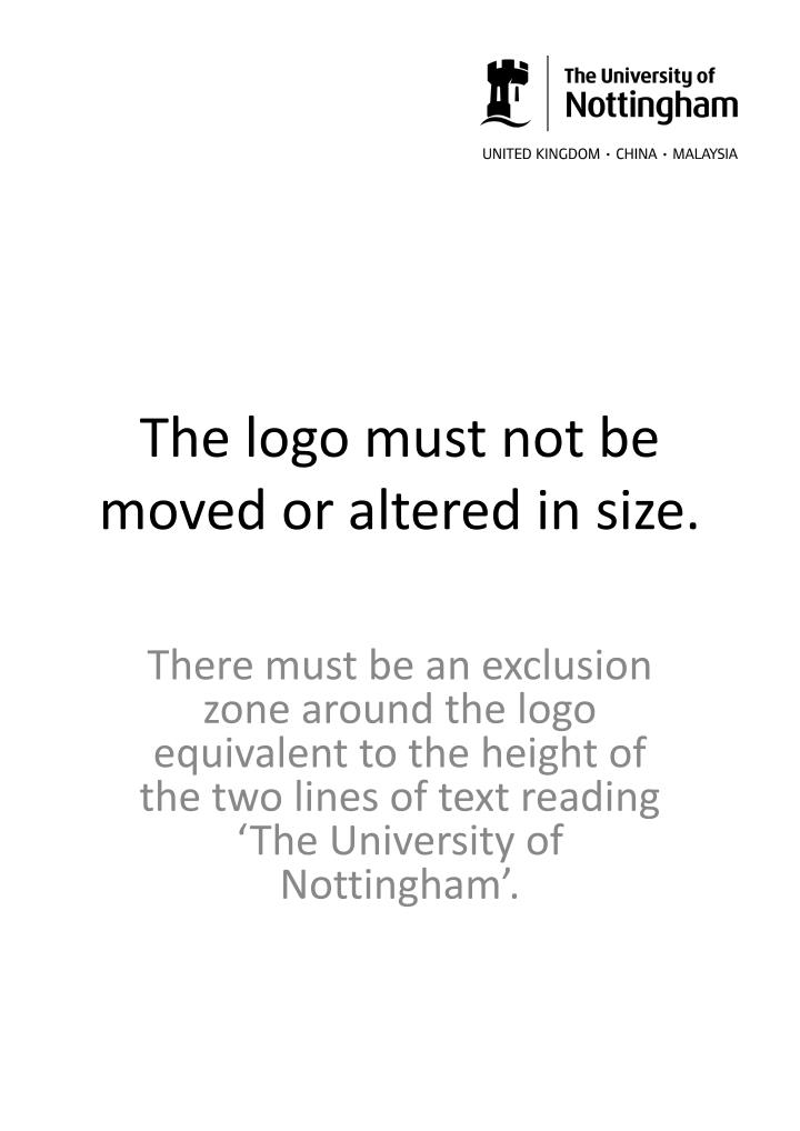 The logo must not be moved or altered in size.