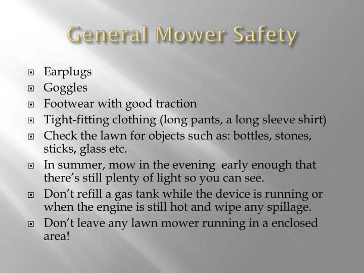 General Mower Safety