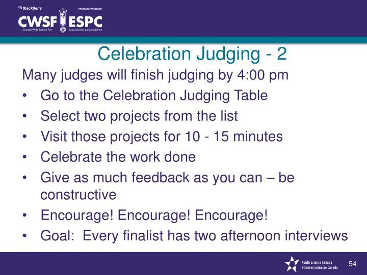 Celebration Judging - 2