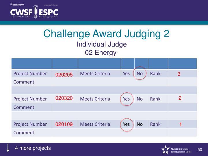 Challenge Award Judging 2