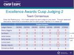 excellence awards cusp judging 2