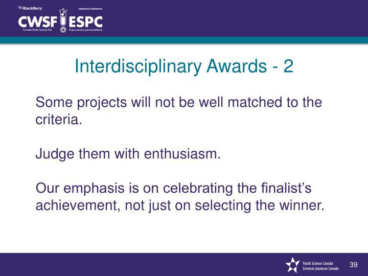 Interdisciplinary Awards - 2