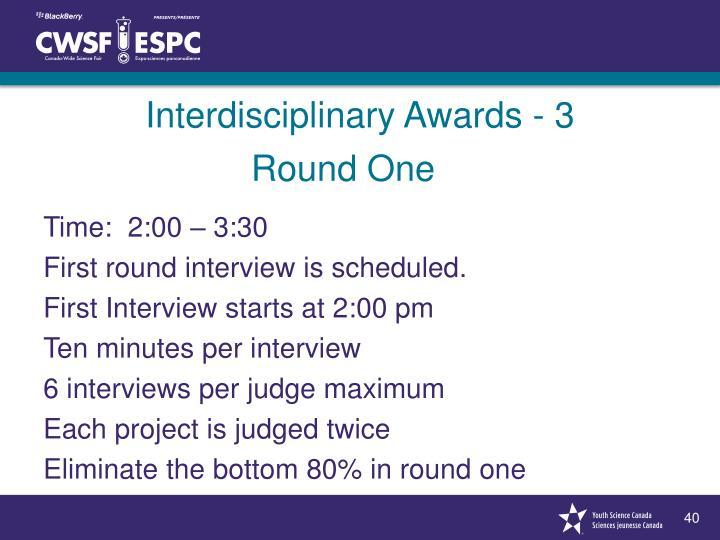Interdisciplinary Awards - 3