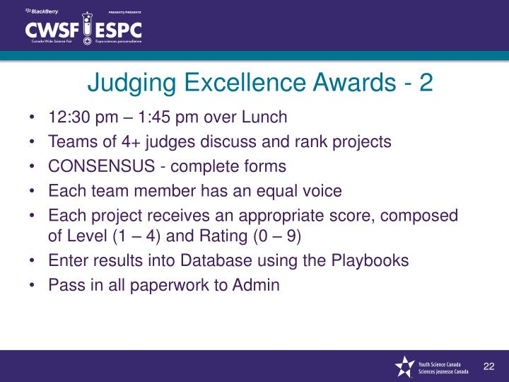 Judging Excellence Awards - 2