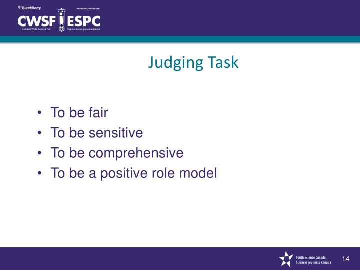 Judging Task