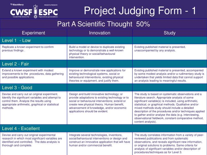 Project Judging Form - 1
