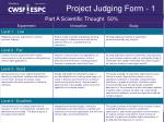project judging form 1