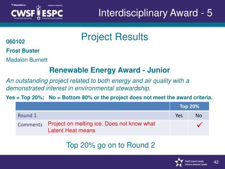 Interdisciplinary Award - 5