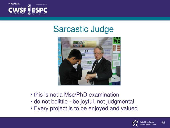 Sarcastic Judge