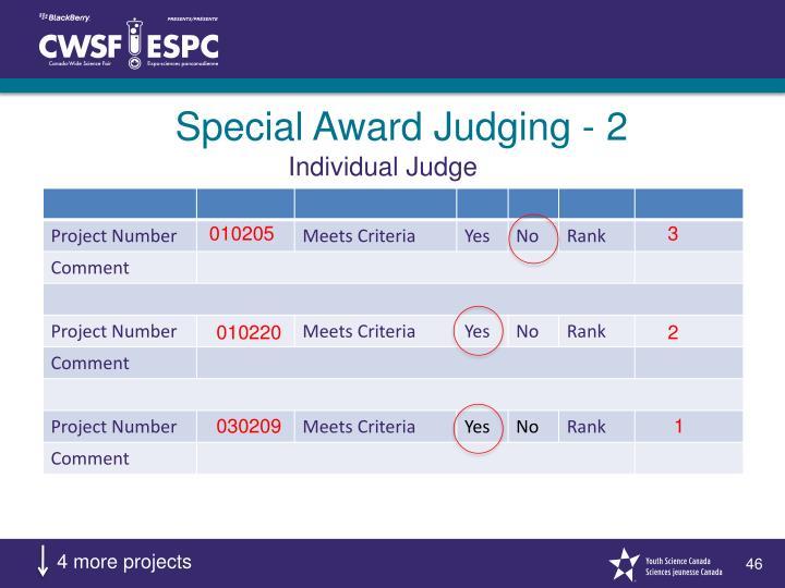 Special Award Judging - 2