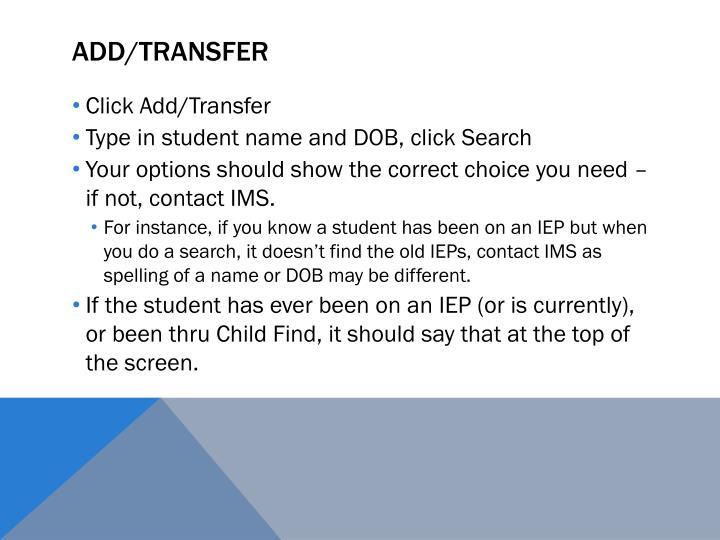 Add/Transfer