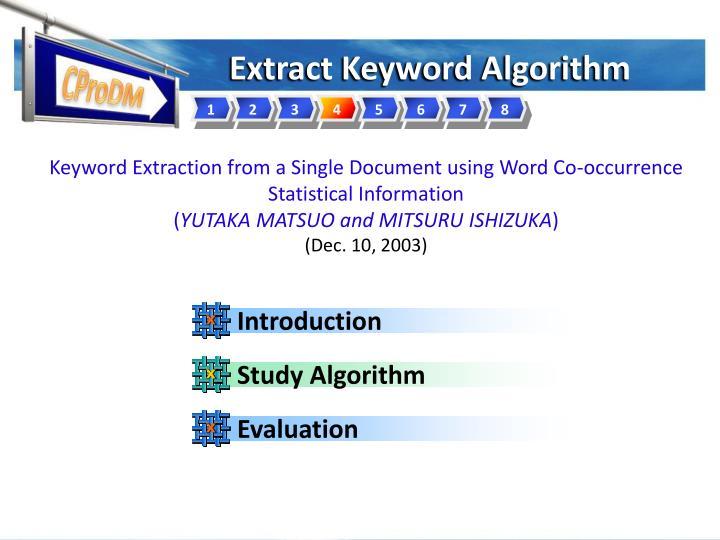 Study Algorithm