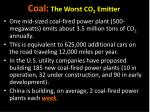 coal the worst co 2 emitter