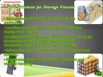 best practices for storage process