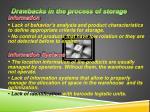 drawbacks in the process of storage1