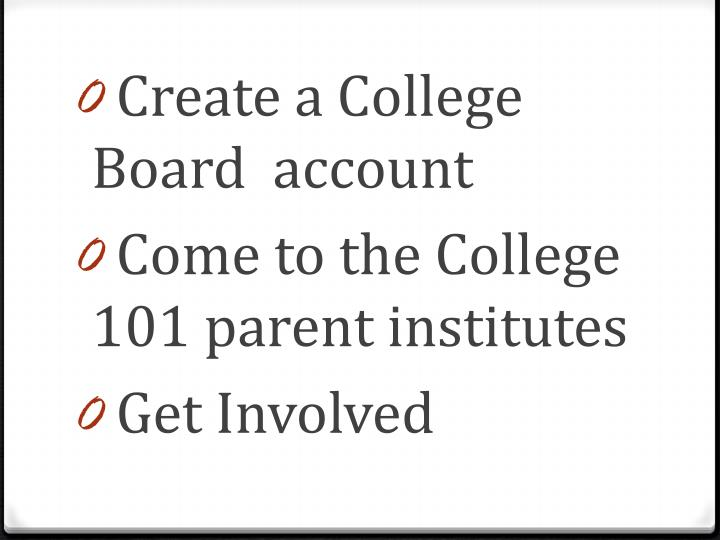 Create a College Board  account