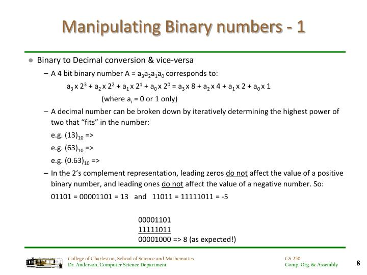 Manipulating Binary numbers - 1