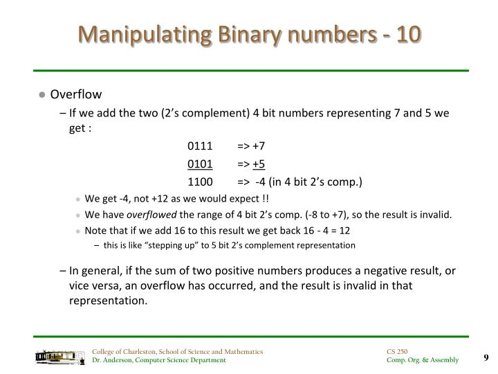 Manipulating Binary numbers - 10