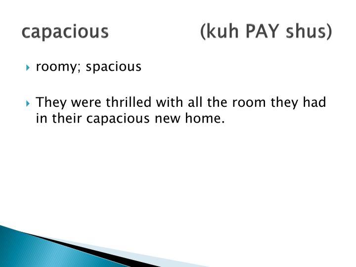capacious(