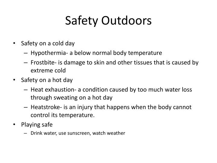 Safety Outdoors